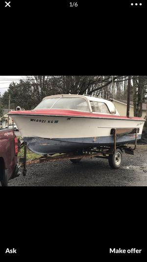1960 Bellboy 16' with 75hp Evinrude for Sale in Elma, WA