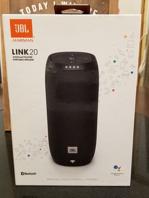 (2) JBL Link 20- Bluetooth, wireless, voice controlled portable speaker w/ Google Assistant for Sale in San Antonio, TX