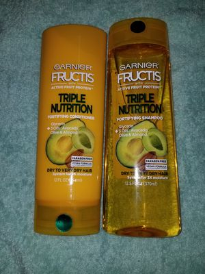 Garnier Fructis Triple Nutrition shampoo and conditioner for Sale in Las Vegas, NV