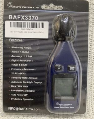 SOUND METER Decibel Level Reader BAFX3370 30dBA-130dBA - BAFX Products SPL - OPEN BOX / NEVER USED for Sale in Kissimmee, FL