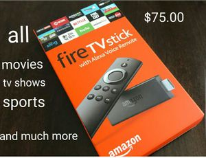 Fire stick with all movies tv shows sports and more for Sale in Winter Haven, FL