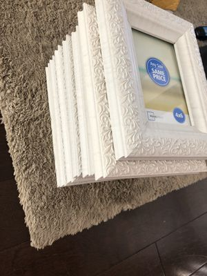 White designed 4x6 picture frames for Sale in Palm Beach Gardens, FL