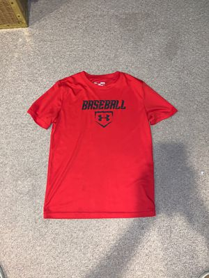 Red Under armour baseball tee size medium for Sale in Sterling Heights, MI