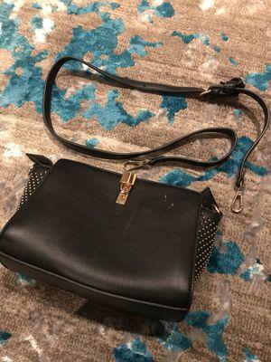 Small black faux leather cross body purse for Sale in Alexandria, VA