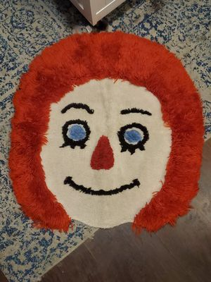 """Vintage Raggedy Andy rug (25"""" wide 25"""" tall) for Sale in Columbus, OH"""