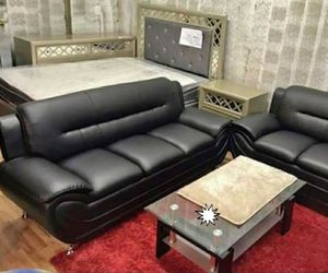 🎁BRAND NEW 🎇Enna Black Sofa & Loveseat | U2701 48 for Sale in Laurel,  MD