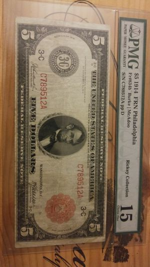 Super Rare-1914 $5 Large Red Seal Graded... for Sale in Springfield, VA
