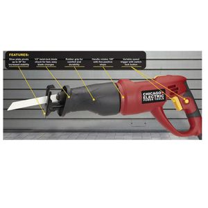 New Chicago Electric variable speed reciprocating saw with rotating handle for Sale in San Jose, CA