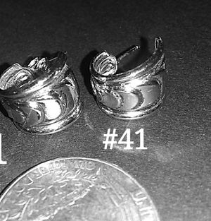 Small silver hoops w/ design #41 for Sale in Lakewood, CO