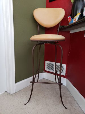 Accent bar height single leather chair for Sale in Englewood, CO