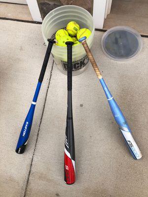 Softball bats and misc balls for Sale in Manassas, VA