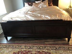 King size bed frame with mattress and two twin size box springs for Sale in Omaha, NE