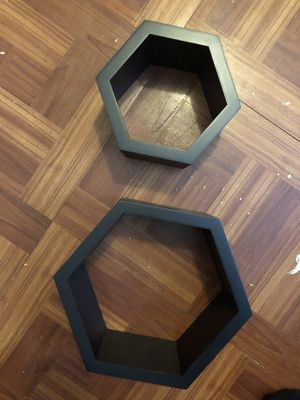 Hexagon wall shelves / decor for Sale in New Bedford, MA