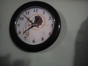Redskins clock for Sale in Bluefield, WV