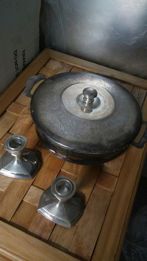 2 candle holders and Pan for Sale in Westminster, CA
