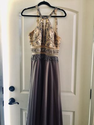 Elegant Cream and Lilac Prom Dress for Sale in Long Beach, CA