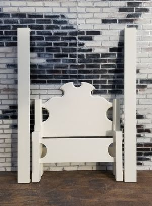 Shabby chic twin bed frame. Cottage white for Sale in Costa Mesa, CA