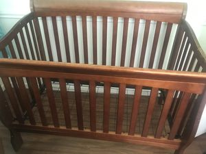 Dark wood baby crib for Sale in Mesa, AZ