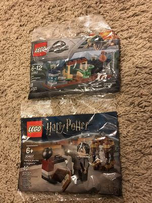 Lego 30382 Jurassic world + LEGO 30407 Harry Potter for Sale in Sugar Land, TX