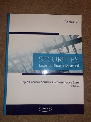 Series 7 Kaplan book 2019 for Sale in Streamwood, IL