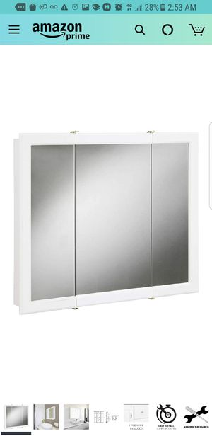 "Design House 531434 Concord Tri-View Medicine Cabinet Mirror 30"", White, 30""x30 for Sale in City of Industry, CA"