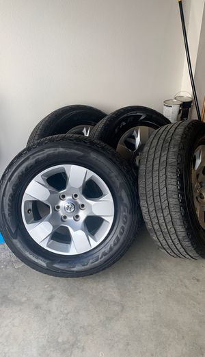 """OME Goodyear Wrangler tires + 18"""" wheels for Sale in Whittier, CA"""