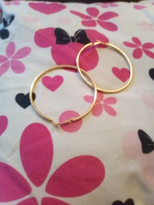 Gold plated hoops for Sale in Dover, NJ