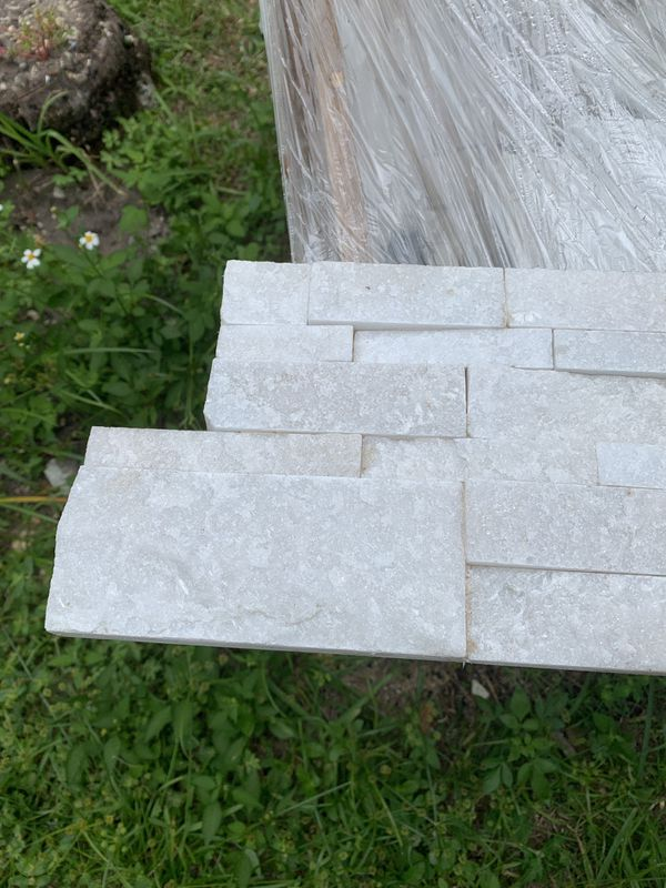 2 pallets White stacked stone for Sale in Miami, FL - OfferUp