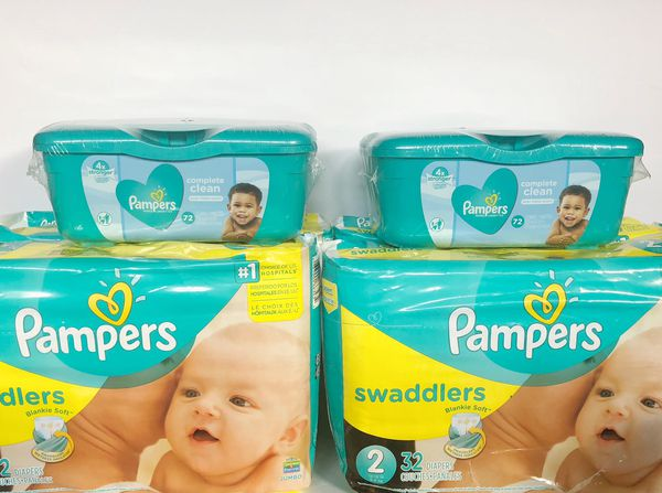 4 PAMPERS and 2 Wipes - for $25