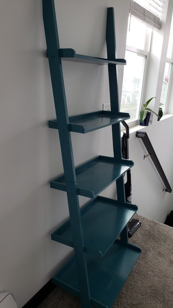 Book shelf, great condition (ladder style)