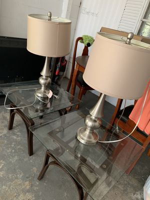 Leaving room tables and lamp for Sale in Brandon, FL