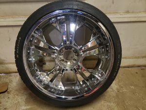 22 inch rims fit trade for some dubs for Sale in Hazelwood, MO