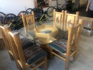 Custom Solid Wood Southwest Table for 6 for Sale in Bend, OR