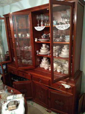 China cabinet ,dinning table chairs and desk or chest set for Sale in San Diego, CA