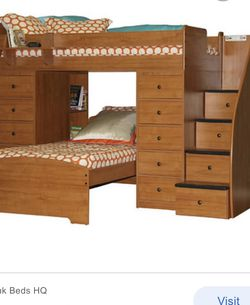 Berg Kids Furniture Twin Over Twin Bunk Bed And Tall Dresser Chest for Sale in Cherry Hill,  NJ