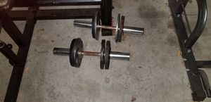 2 Curl Bars with 20lbs of weight for Sale in Oklahoma City, OK