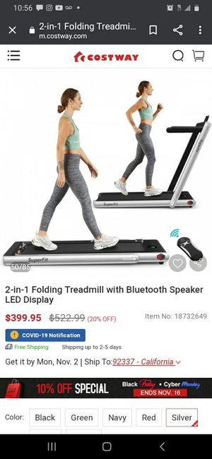 New 2 In 1 Folding Treadmill with Bluetooth Speaker for Sale in Norwalk, CA