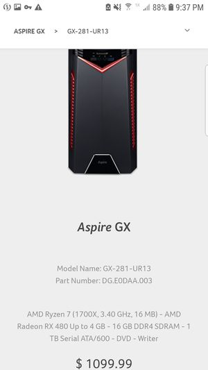 Acer Aspire GX-281 Gaming Computer for Sale in Montebello, NY