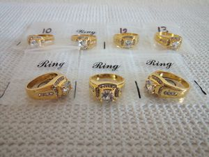 18K Gold Plated Rings for Men Wedding Engagement Cubic Zirconia Diamond Men's Ring for Sale in San Diego, CA