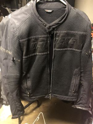 Dianese mesh motorcycle jacket with back protector for Sale in San Diego, CA