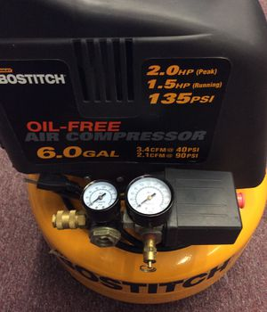 Bostitch CAP60P-OF 6 Gal, 135 PSI, Oil Free Pancake Air Compressor (19-1956) for Sale in Laurel, MD