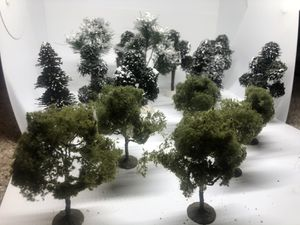 """18 Large Model Trees 5""""-9""""' Tall for O Gauge Train Layouts for Sale in Mechanicsburg, PA"""