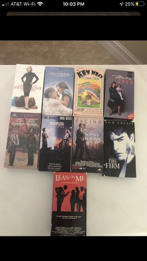 9 VHS movies for Sale in Boca Raton, FL