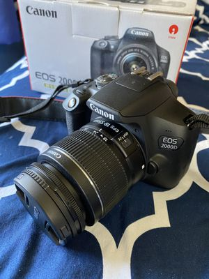 Canon eos 2000d/rebel t7 (perfect condition) for Sale in The Bronx, NY