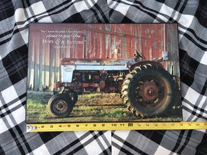 Tractor and barn/farmhouse inspirational message picture for Sale in Fort Worth, TX