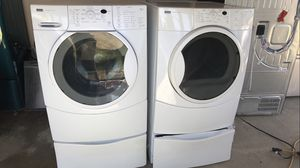 KENMORE ELITE WASHER AND DRYER SET WITH PEDESTALS for Sale in La Jolla, CA