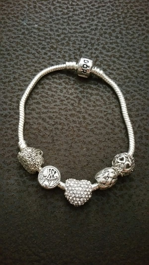 Bracelet with silver charms