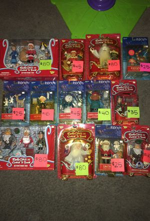 Santa clause is coming to town collectible figures and Rudolph an the island misfit toys for Sale in Vancouver, WA