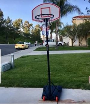 Basketball Hoop Height Adjustable Kids Adults Outdoor Portable Wheels for Sale in Wilkes-Barre Township, PA