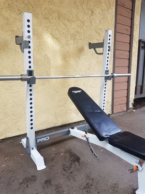 Bench Press and olympic weights for Sale in San Diego, CA